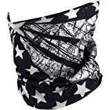 Outdoor Face Mask - Perfect for Motorcycle Riding, Skiing, Snowboarding, Fishing - Works as Dust Mask, Neck Gaiter, Balaclava, Bandana, Fashion - Breathable Seamless Microfiber (American Flag)