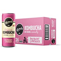 Remedy Organic Kombucha Raspberry Lemonade, 250 ml, (Pack of 24)