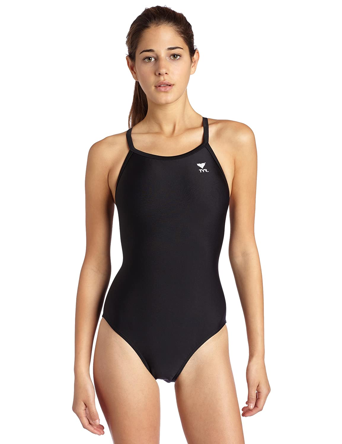 178d685e Amazon.com : TYR Sport Women's Solid Diamondback Swimsuit : Athletic One Piece  Swimsuits : Clothing