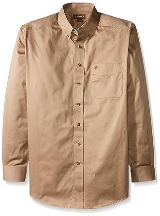 73f48da81f72 Ariat Men s Big and Tall Solid Twill Shirt  Amazon.co.uk  Clothing