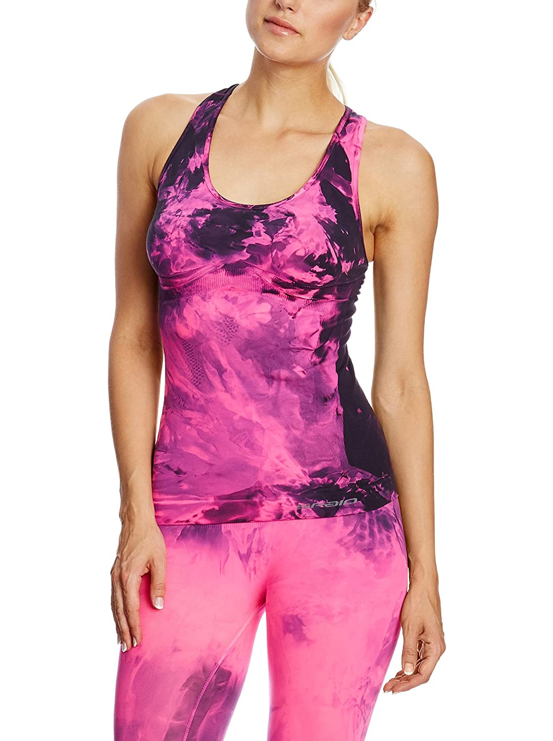 SPAIO ® Fintess Camiseta Top de Mujer, Rosa Fluorescente, L/XL