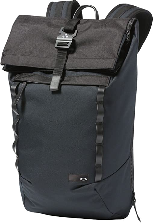 Oakley Mens Voyage 23L Roll Top Backpack One Size Blackout