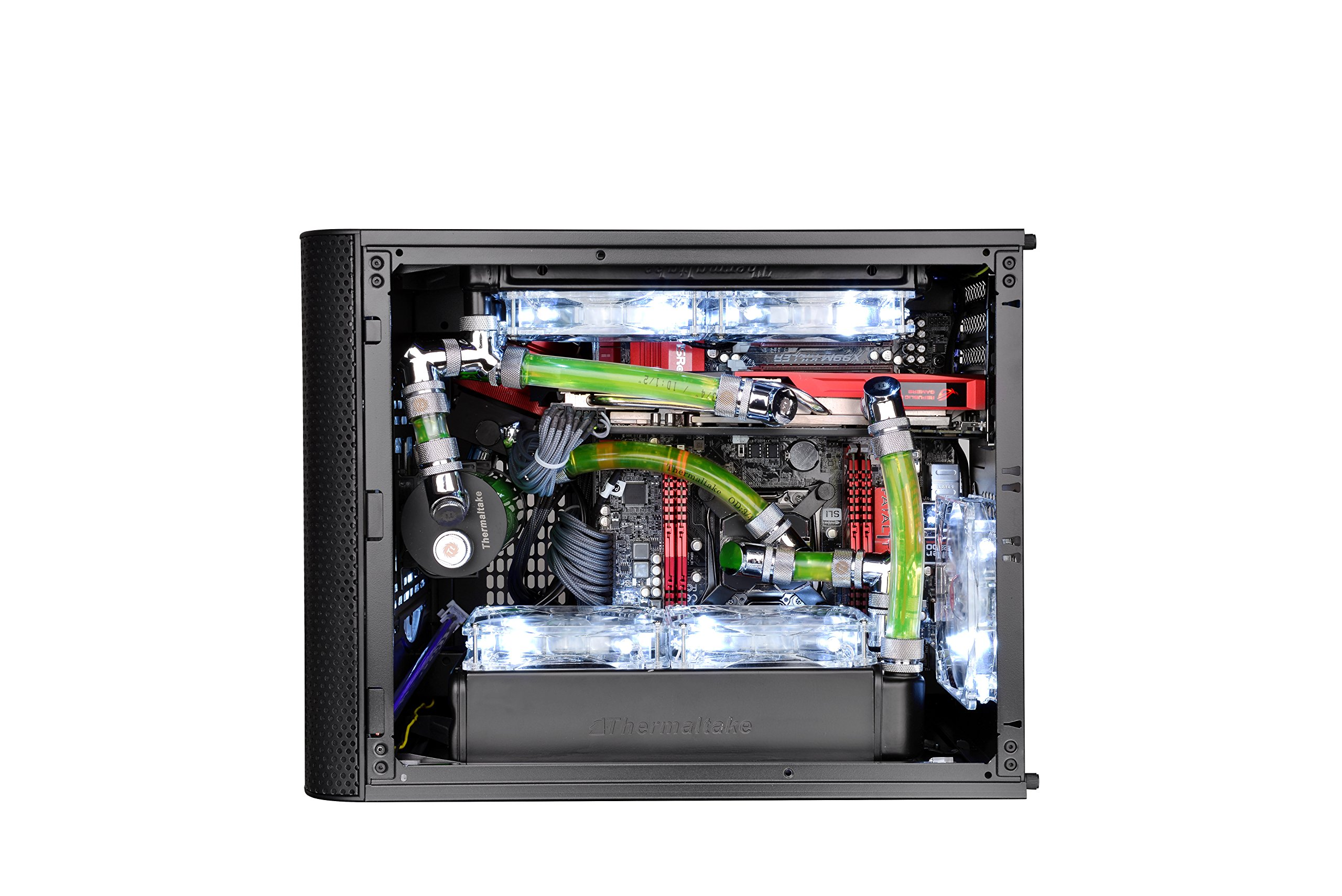 Thermaltake Core V21 SPCC Micro ATX, Mini ITX Cube Gaming Computer Case Chassis, Small Form Factor Builds, 200mm Front Fan Pre-installed, CA-1D5-00S1WN-00 by Thermaltake (Image #14)