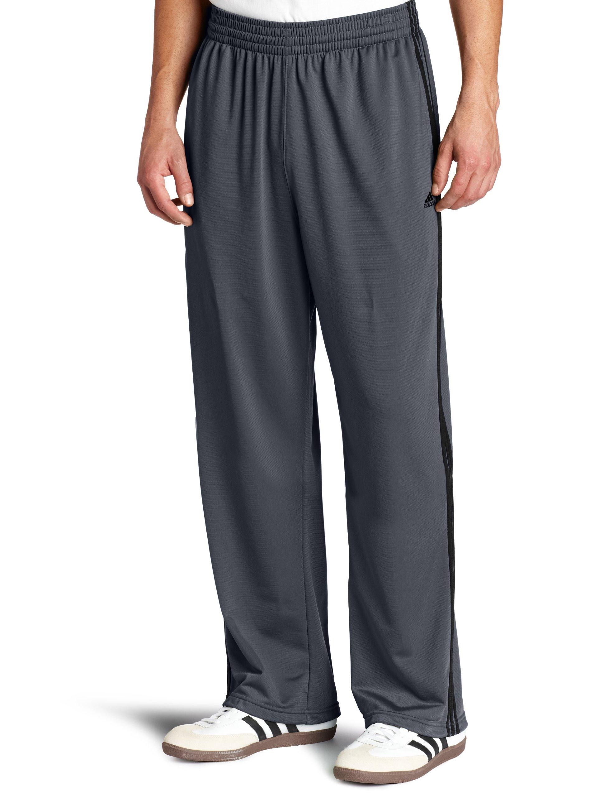 adidas Men's 3-Stripe Pant, Lead/Black, 4X-Large
