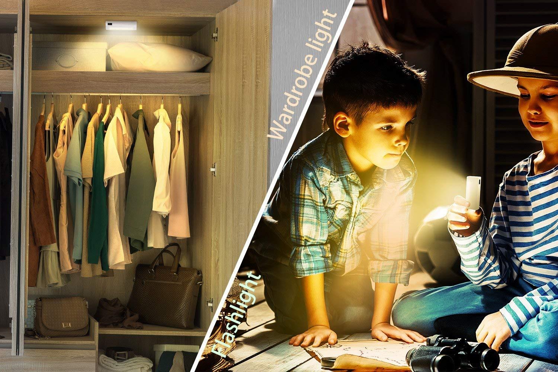 1M Clase de eficiencia energ/ética A+ LUXJET/® Recargable 30LED 1M tira luz cuerda,Luz Armario Luz LED Nocturna con Sensor de Movimiento para Pasillo Ba/ño Armario Cocina