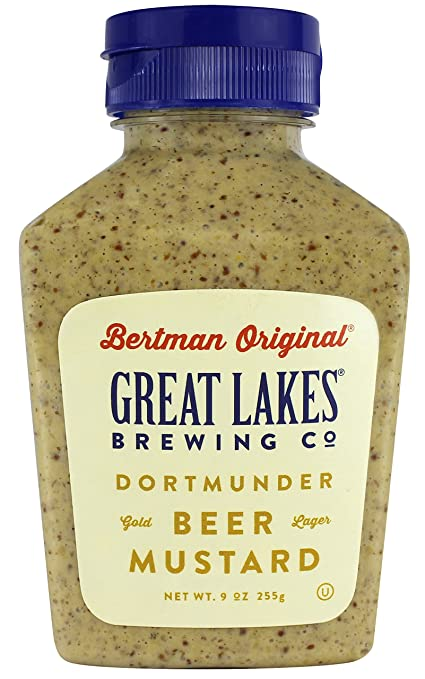 Bertman Original Great Lakes Dortmunder Gold Beer Mustard - 9 oz