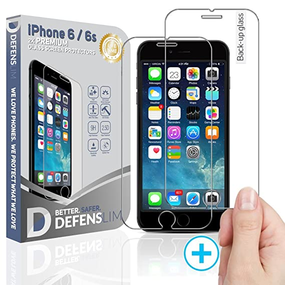 wholesale dealer 23781 5c982 Defenslim by WITKEEN IP-6G 2Pack iPh.6/6s Tempered Glass Screen Protector -  Shatter Resistant , Compatible for iPhone 6s / 6