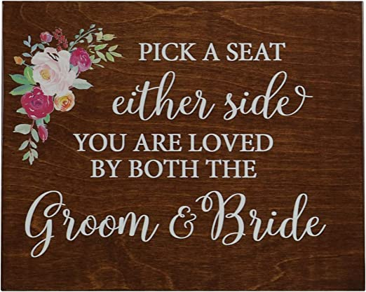 8x10 LifeSong Milestones Please Sign Decorative Wedding Party Signs for Ceremony and Reception for Bride and Groom