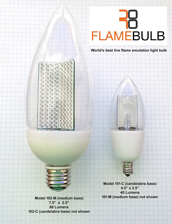 Large Orange Yellow Flicker Flame Effect Bulb Flamebulb Led Bcyfl 7 5 Com