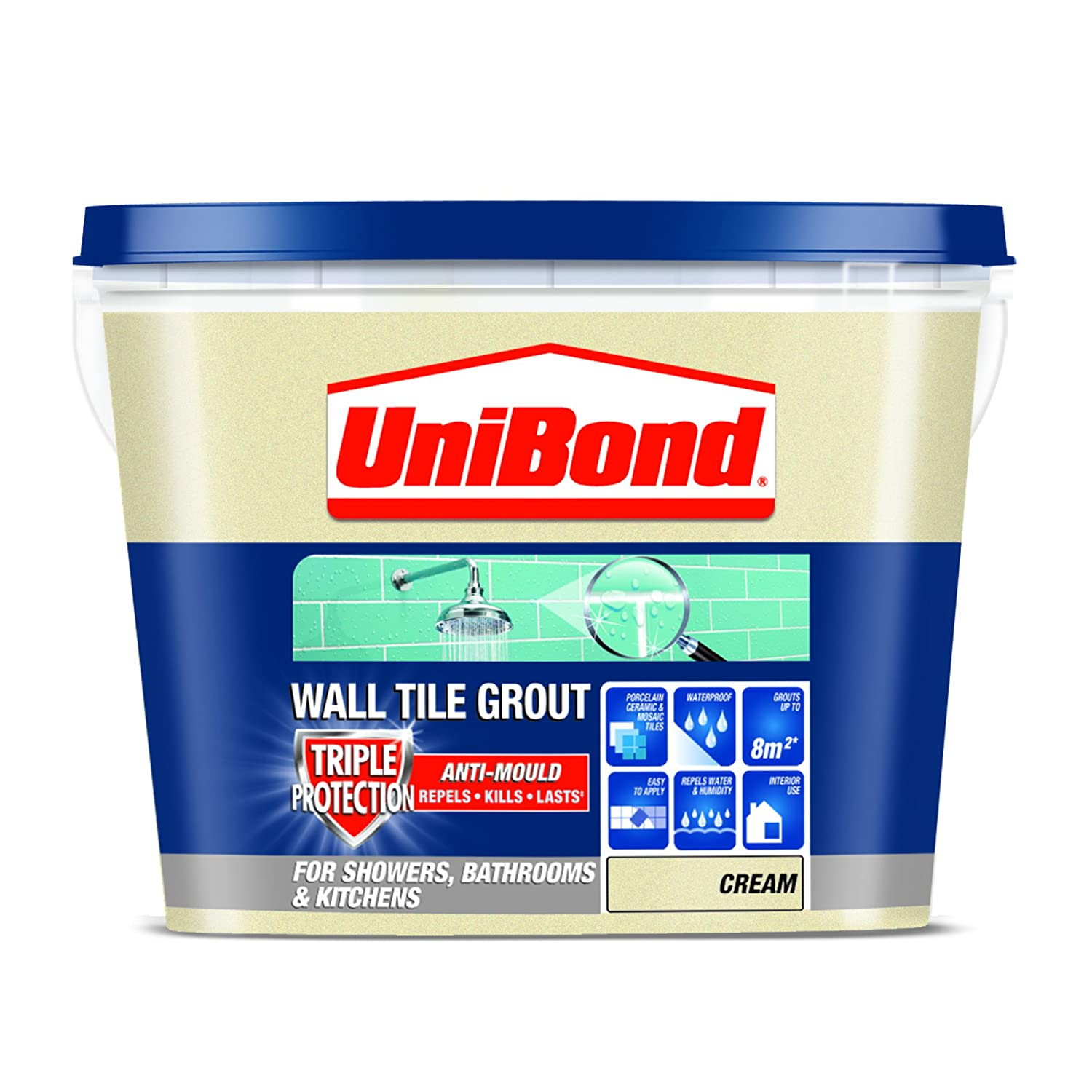 Unibond 1617927 Triple Protect Anti Mould Wall Tile Grout