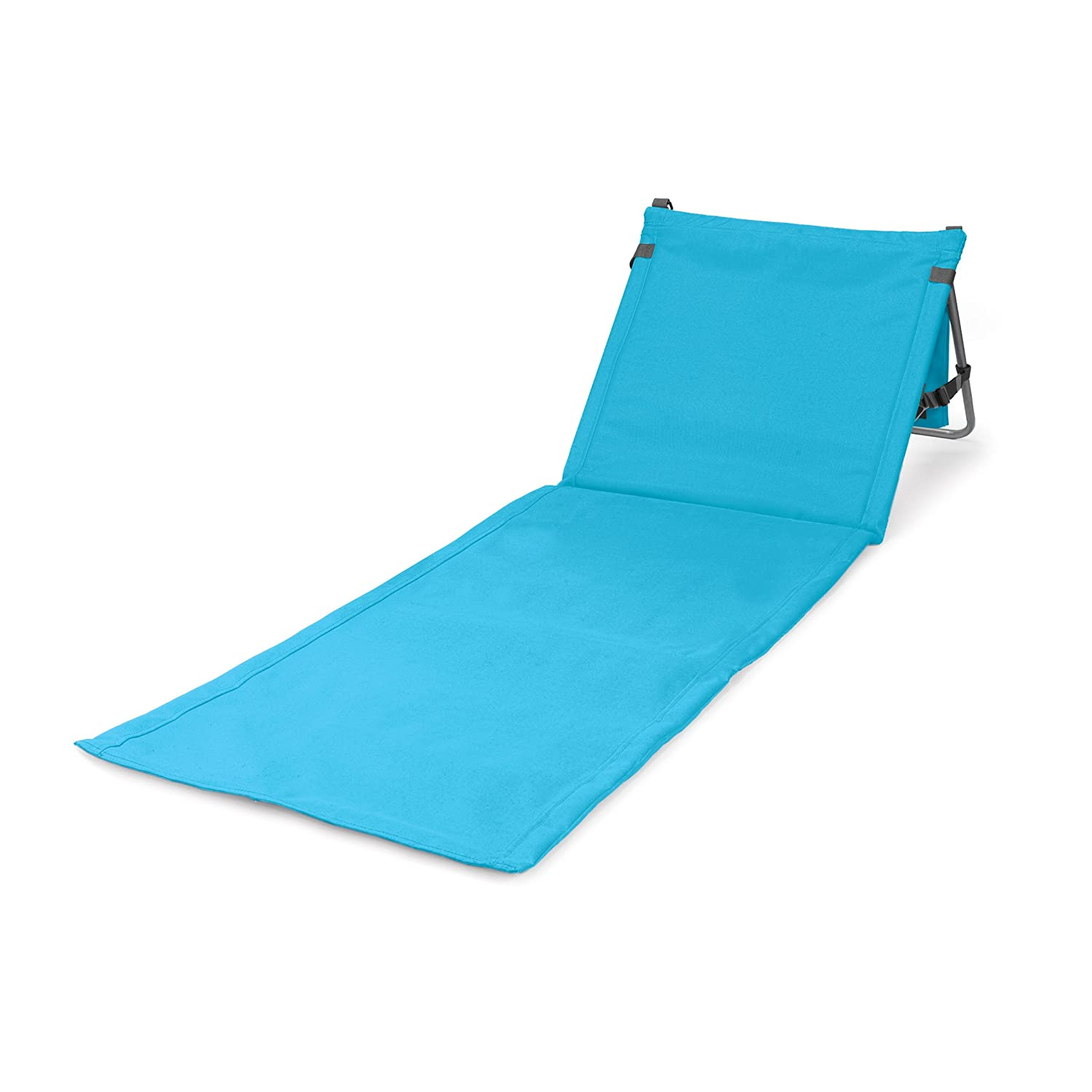amazoncom picnic time portable beach mat blue folding chairs patio lawn u0026 garden - Beach Lounge Chairs