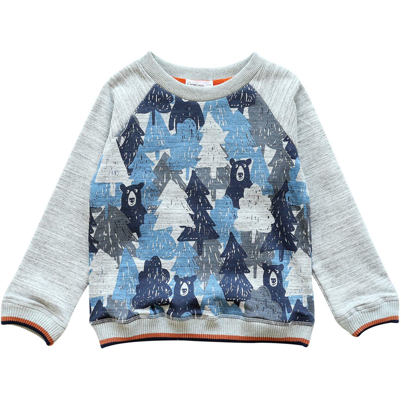 CUNYI Boys Fashion Print Cotton Sweatshirts Pullover Zip Hoodie