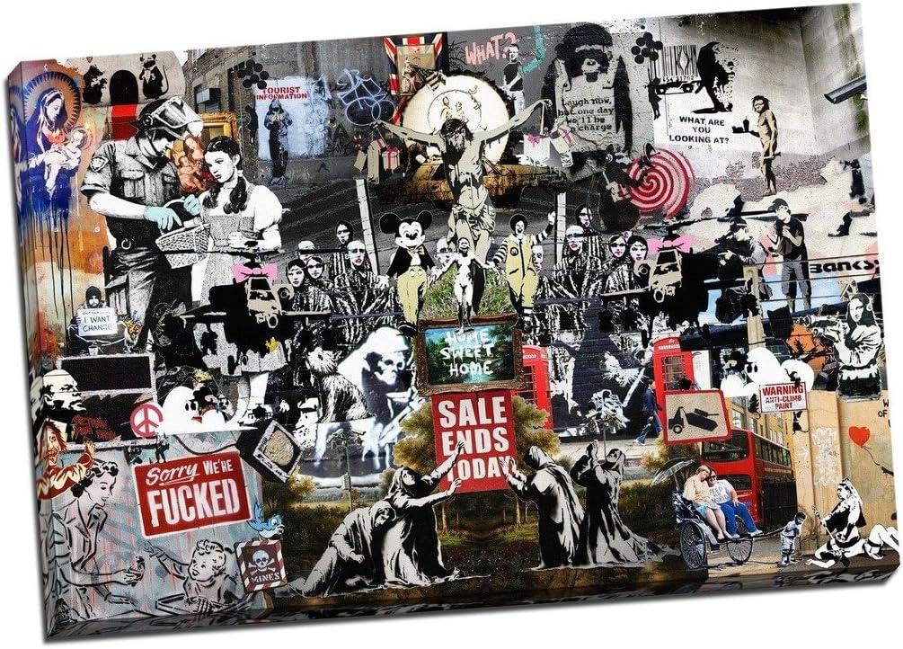 Banksy Canvas Montage