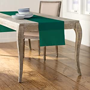 LA Linen Polyester Poplin Table Runner, 14 by 108-Inch, Teal