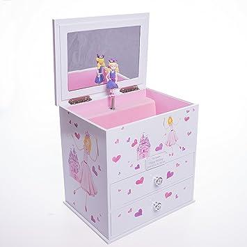 Personalised Wooden Girls Princess Castle Musical Jewellery Box Gift For Christmas Flower Girl Christening Birthday Daughter Sister 1389