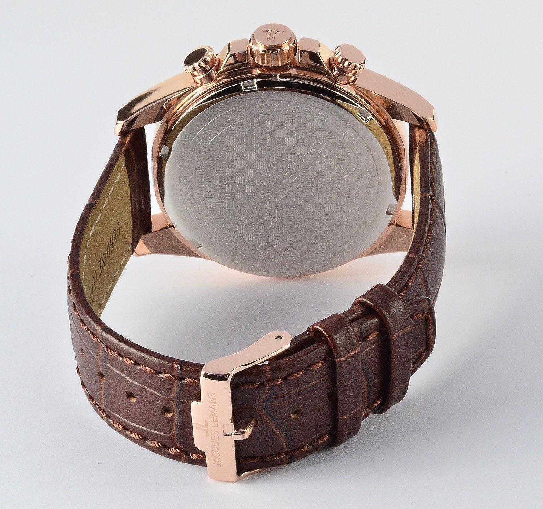 1847d Quarz Jacques Mit 1 Leder Lemans Armband Analog Uhr Herren kXZiPTOu