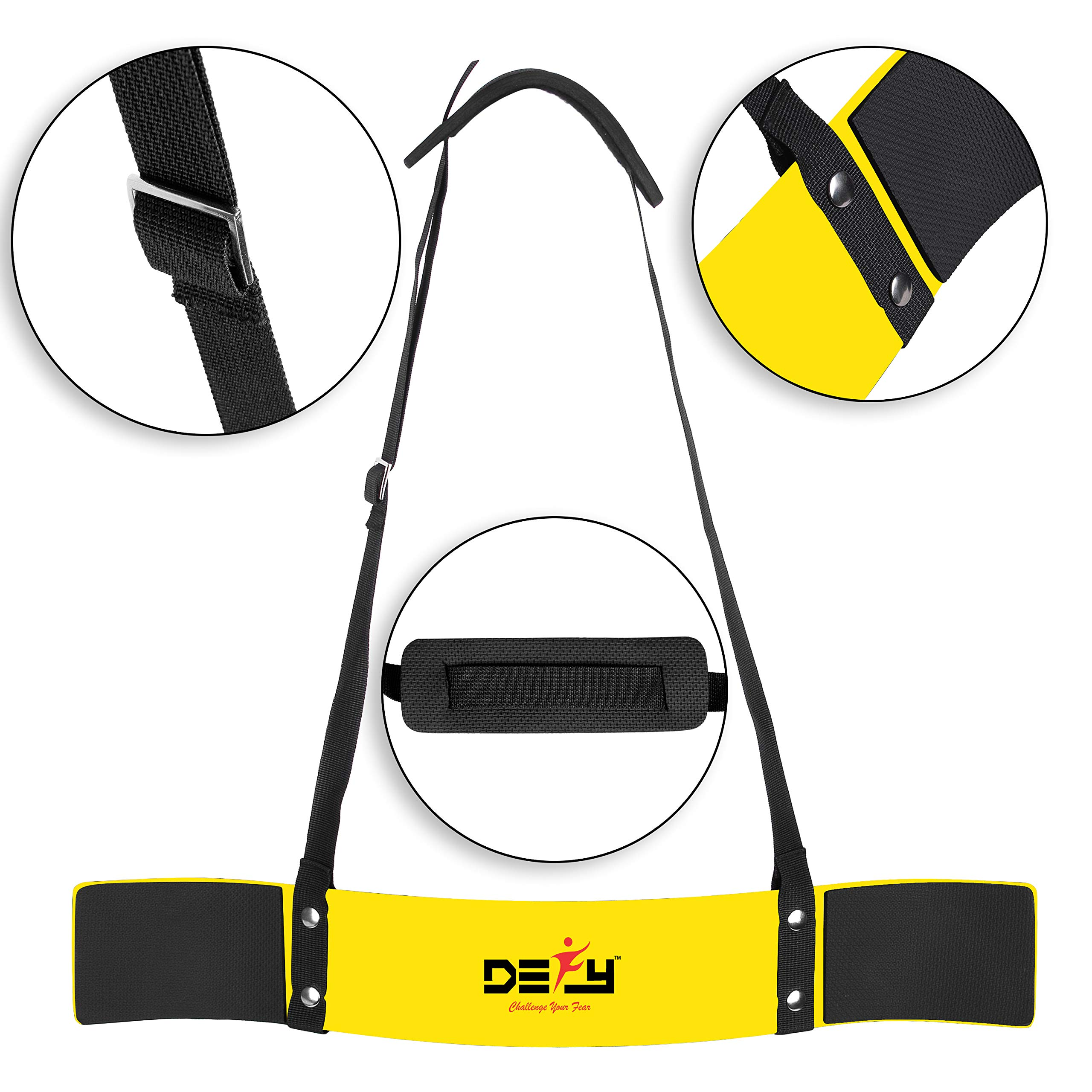 DEFY Heavy Duty Arm Blaster for Biceps and Triceps Workout Ideal Bicep Isolator & Muscle Builder for Bodybuilders and Weight Lifters with Advanced Neoprene Padding for Secure Workout (Yellow)