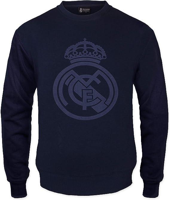 Homme Real Madrid Officiel T-Shirt th/ème Football Motif Blason