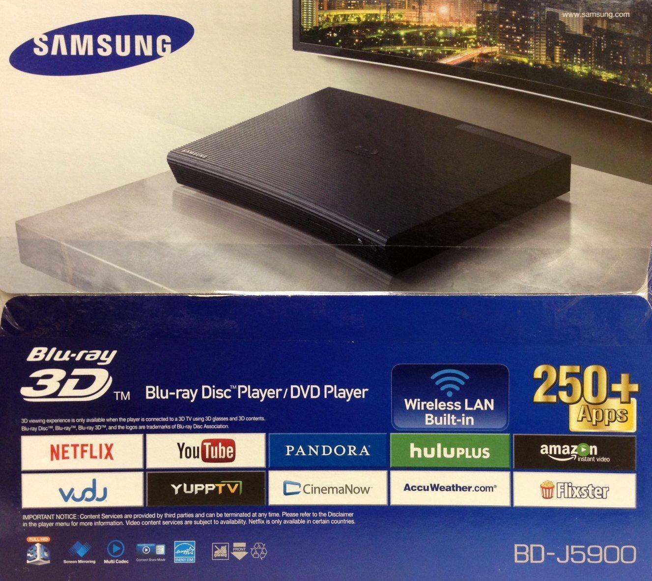 Samsung J5900RF Wi-Fi Multi System Region Free Blu-Ray Disc DVD Player by Samsung B00VPFQ1GG