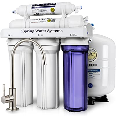 iSpring RCC7 WQA Gold Seal Certified 5-Stage Reverse Osmosis Drinking Water Filter System