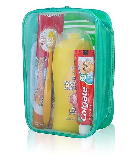 De los niños neceser de champú o esponja para limpieza de coche de cepillos de dientes