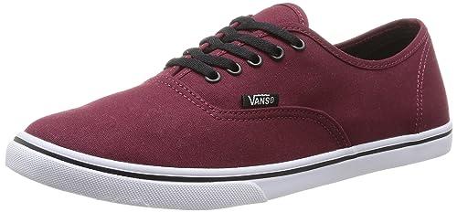 Zapatos rojos Vans Authentic Lo Pro para mujer H7FW9U