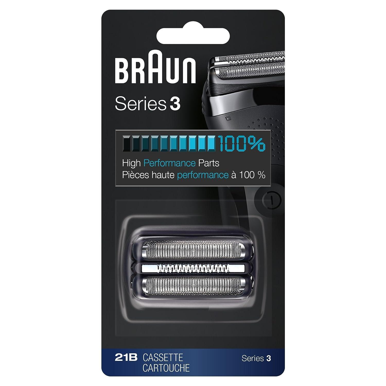 Braun Repuesto De Afeitadora 21B, Negro, Compatible Con Los Modelos 300S Y 310S