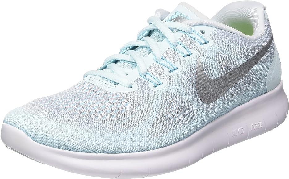 Nike Women S Free Run 2017 Glacier Blue Metallic Silver Running Blue Size 6 5 Road Running