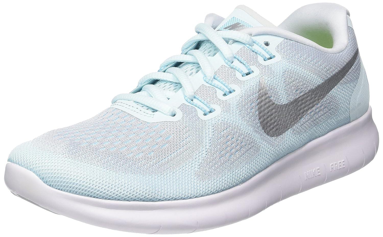 48508f4e75291 Nike Womens Free Run 2017 Glacier Blue/Metallic Silver Running Shoes (9.5 B  US)