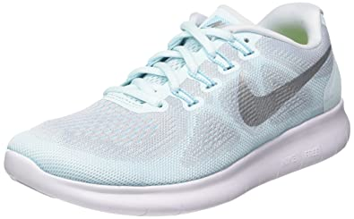 665a95fa52705 Image Unavailable. Image not available for. Color  Nike Women s Free Run  2017 Glacier Blue Metallic Silver Running Shoes ...