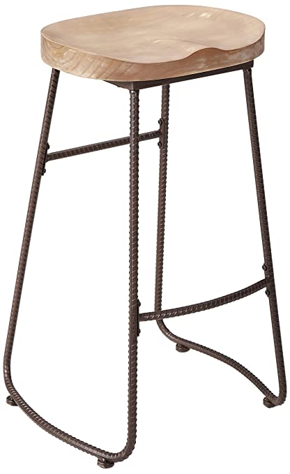 Ou0026K Furniture 30 Inch Counter Height Stool Chairs, Industrial Solid Wood  And Metal Bar