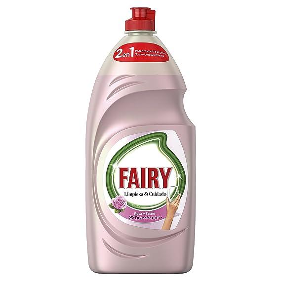 Fairy Limpieza y Cuidado Líquido Lavavajillas de Rosa y Satén - 4 ...