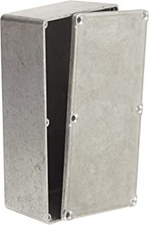 BUD Industries CU-5476-B Die Cast Aluminum Econobox with Mounting Bracket Cover Black Powdercoat Finish 6 Length x 3-1//4 Width x 2 Height