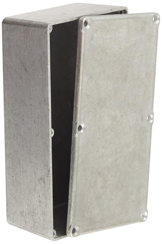 BUD Industries CU-476 Aluminum Econobox, 6' Length x 3-1/4' Width x 2' Height, Natural Finish 6 Length x 3-1/4 Width x 2 Height