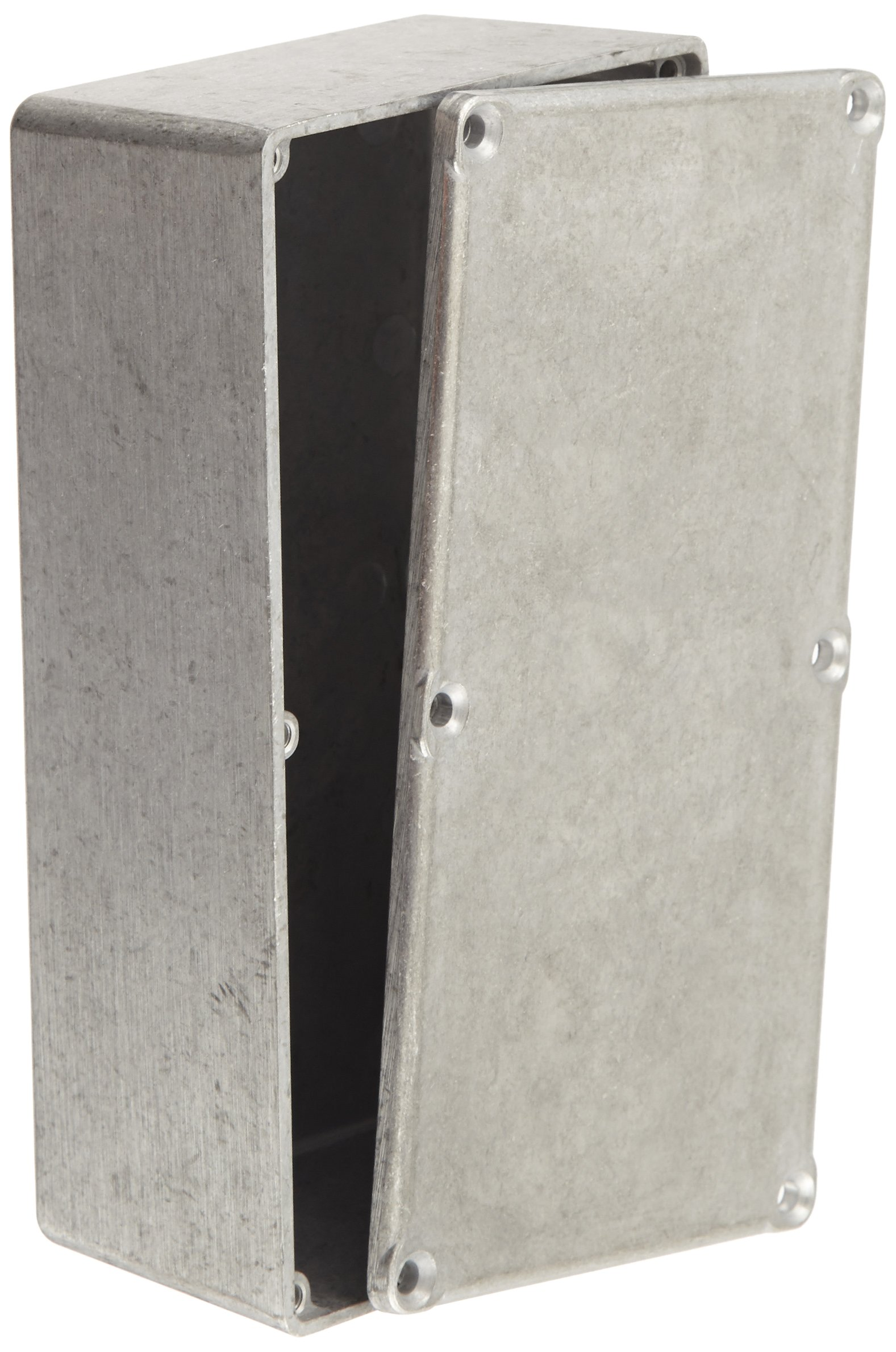 BUD Industries CU-476 Aluminum Econobox, 6'' Length x 3-1/4'' Width x 2'' Height, Natural Finish