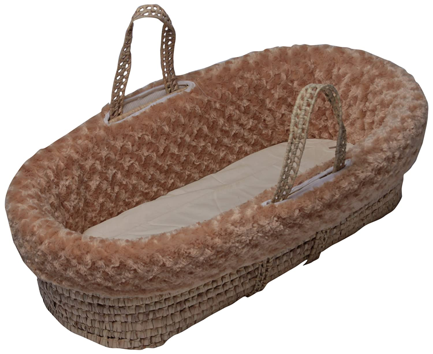 Camel Baby Doll Bedding Rosey Chenille Moses Basket