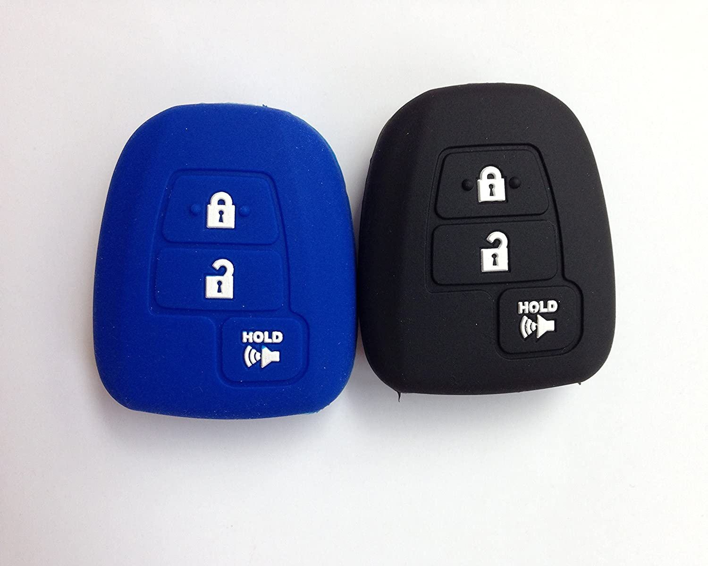2pcs Protective Fob Skin Remote Key Case Cover for 2012-2014 TOYOTA Avalon Camry Corolla RAV4 Venza 2016-2017 Tacoma HYQ12BDM