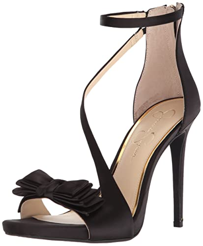 8b4c2e4bab0 Jessica Simpson Women s REMYIA Pump Black Satin 6.5 Medium US