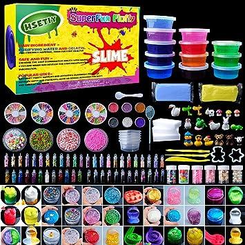 Hsetiy super slime kit supplies 12 crystal clear slimes with 54 hsetiy super slime kit supplies 12 crystal clear slimes with 54 packs glitter sheet jars solutioingenieria Images