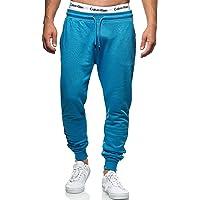 Indicode Pantalones de chándal para hombre de Eberline, de 95 % algodón, corte regular, pantalones de deporte para…