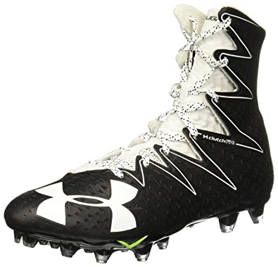 black and gold under armour football cleats