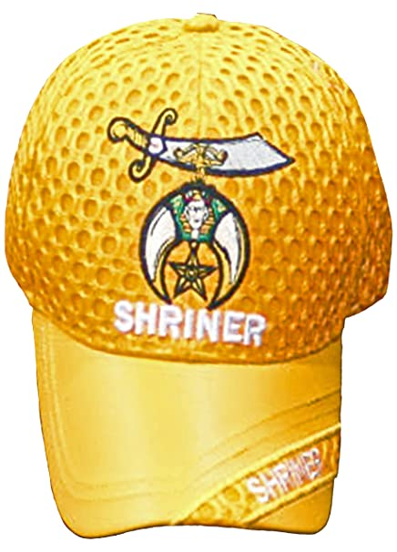 Image Unavailable. Image not available for. Color  Buy Caps and Hats  Shriner Baseball Cap Golden Orange Shriners Mens Mesh Hat a03f45bd4a07