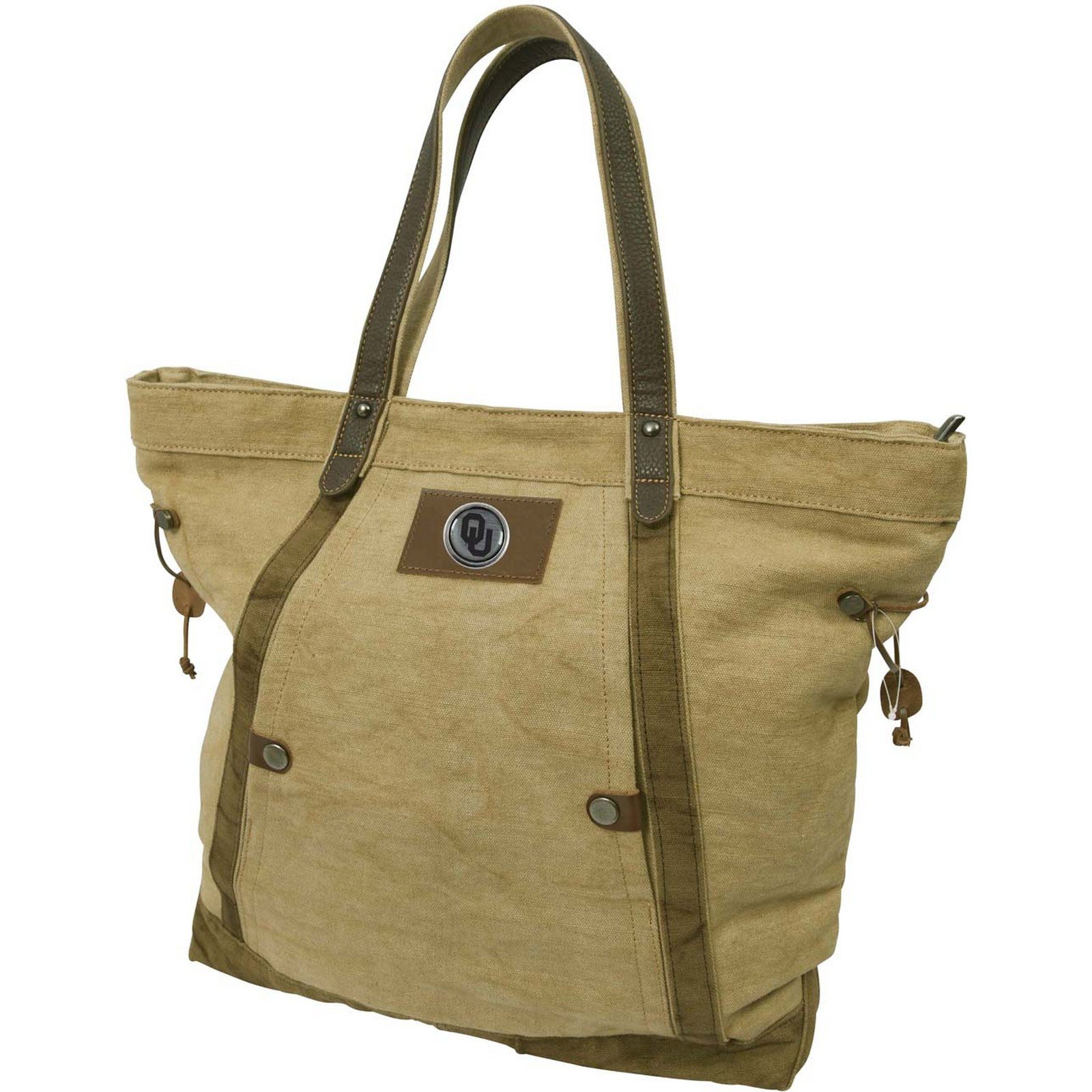Canyon Outback 19-Inch Linen Tote Bag, Oklahoma Sooners