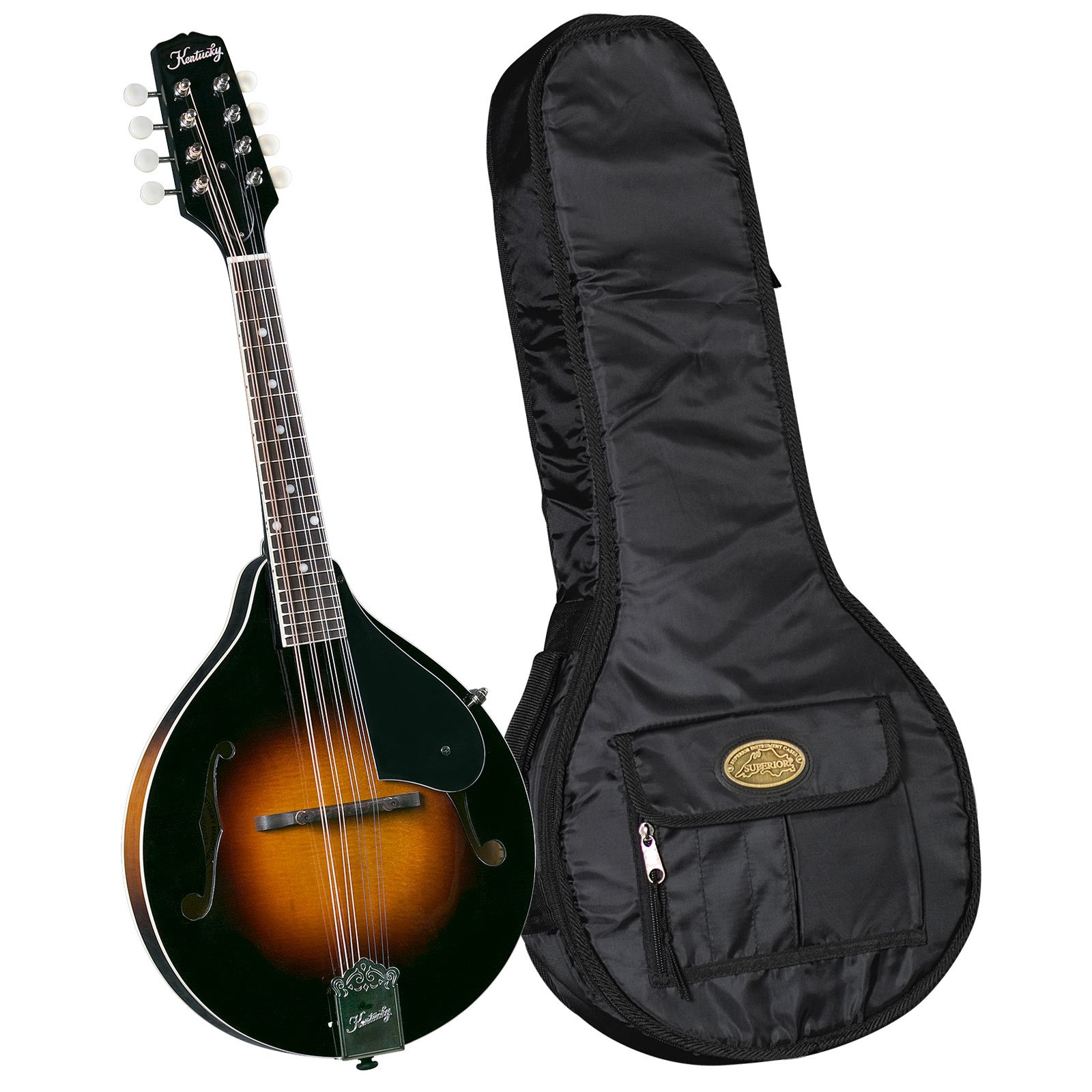 Kentucky KM-140 Standard A-model Mandolin with Deluxe Bag - Sunburst