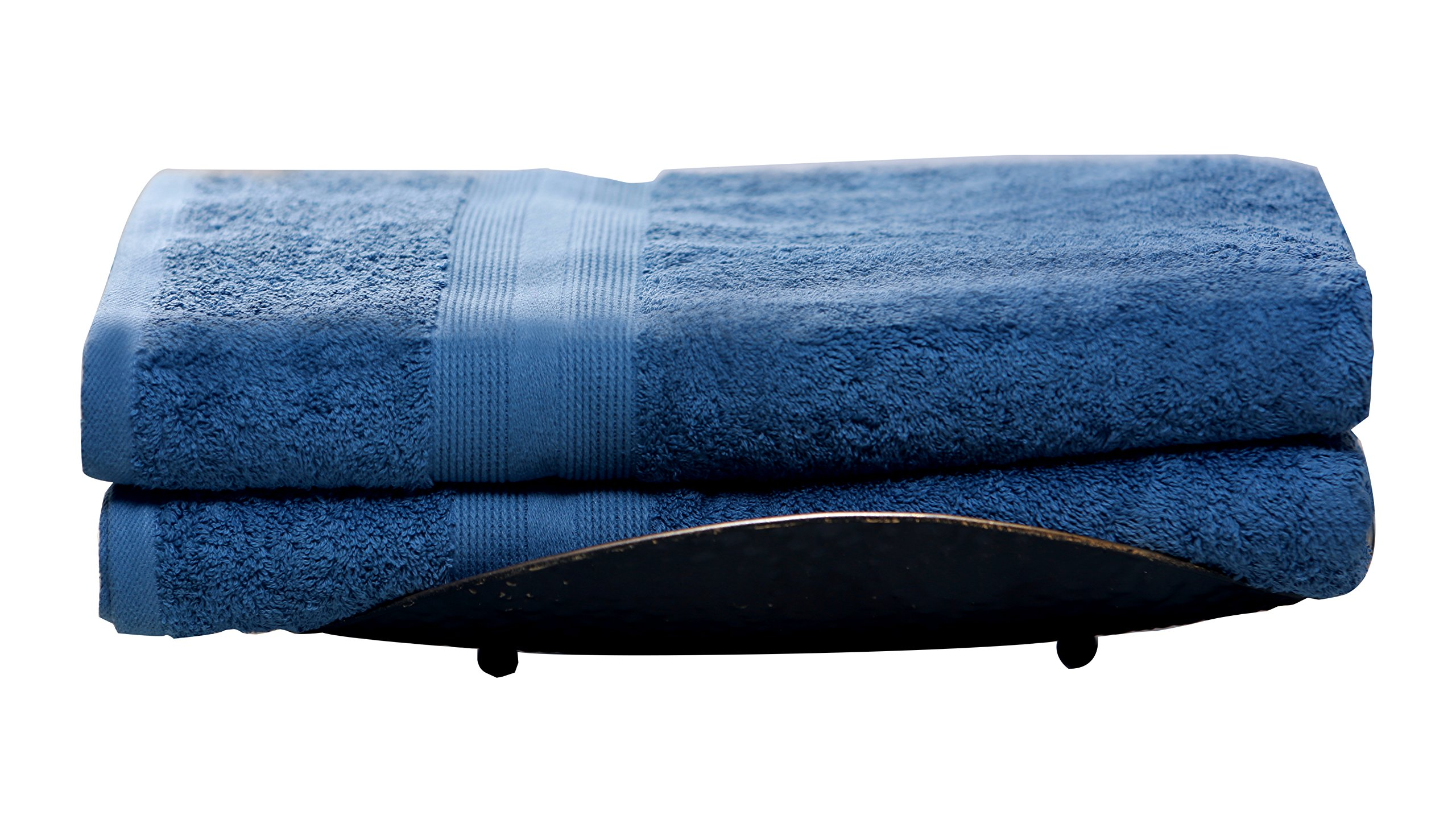 Spa Collection 2 Piece Bath Sheet, Medium Blue