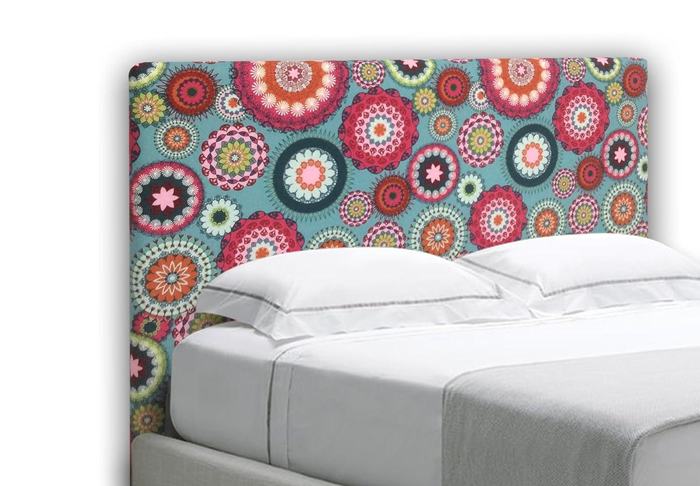 Suenoszzz - Testata dal letto, (rivestimento stampato) giovanile. 90 x 57 x 6 cm. Bianco + Multicolore