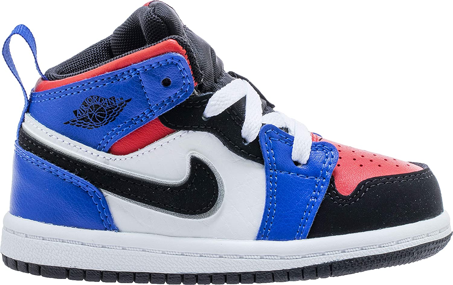 new style a2d28 dec5e Nike Boy's Air Jordan Retro 1 Shoe, White/Black/Hyper Royal/University Red,  5 M US Toddler