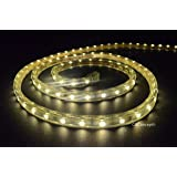CBConcept UL Listed, 10 Feet, 1080 Lumen, 3000K Warm White, Dimmable, 110-120V AC Flexible Flat LED Strip Rope Light, 180 Units 3528 SMD LEDs, Indoor/Outdoor Use, Accessories Included, [Ready to use]