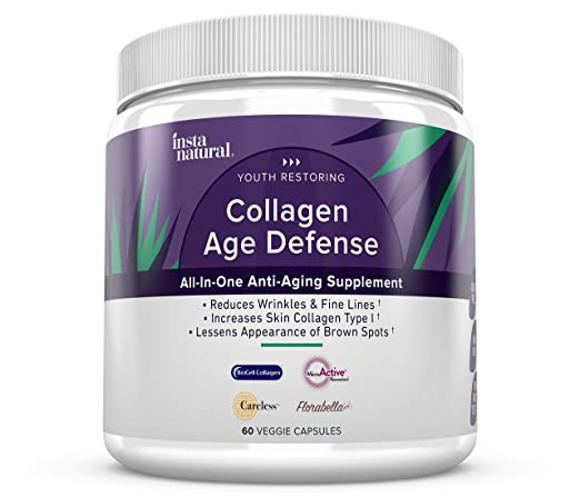 The InstaNatural's Collagen Age Defense Supplement travel product recommended by Rachel Bronson on Pretty Progressive.