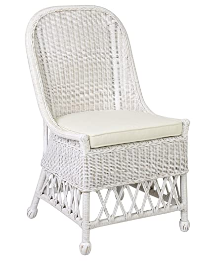 Superb Amazon Com East At Main Chrisa White Traditional Rectangle Ncnpc Chair Design For Home Ncnpcorg